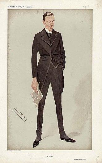 Edward Turnour, 6th Earl Winterton - Lord Winterton by Leslie Ward, 1908.