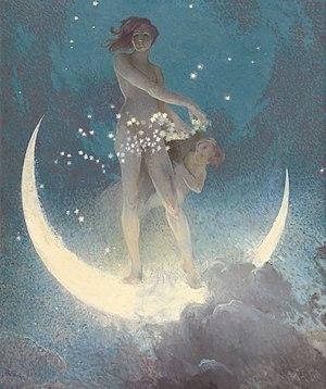 Edwin Blashfield - Spring Scattering Stars, 1927.