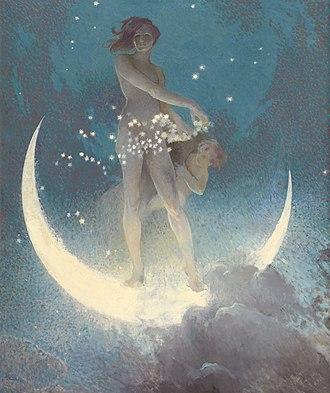 Edwin Blashfield - Spring Scattering Stars, 1927