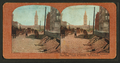 Effect of earthquake on Market Street pavement, ferry bldg. tower in distance, San Francisco, from Robert N. Dennis collection of stereoscopic views.png