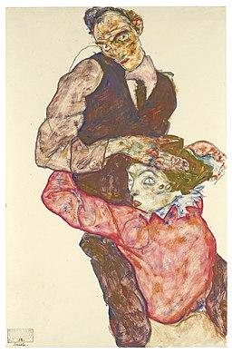 Egon Schiele - Liebespaar (Selbstdarstellung mit Wally)
