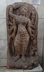 Eight Hands Durga Mahisasuramardini Statue