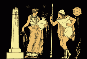 Electra - Electra and Orestes, from an 1897 Stories from the Greek Tragedians, by Alfred Church