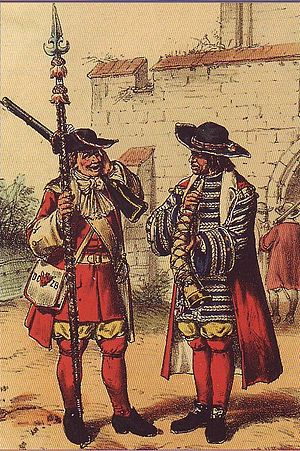 Battle of Nauen - A Brandenburg soldier and shawm piper of Electress Dorothea's Own Infantry Regiment, ca. 1675