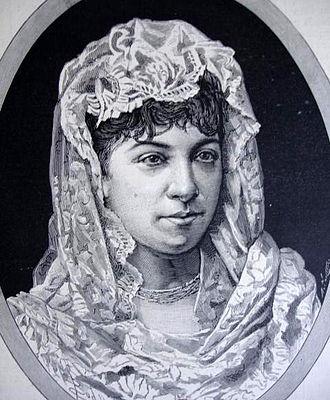 Mala Pasqua! - Elena Theodorini (1854-1926) who sang the role of Carmela in the premiere of Mala Pasqua!