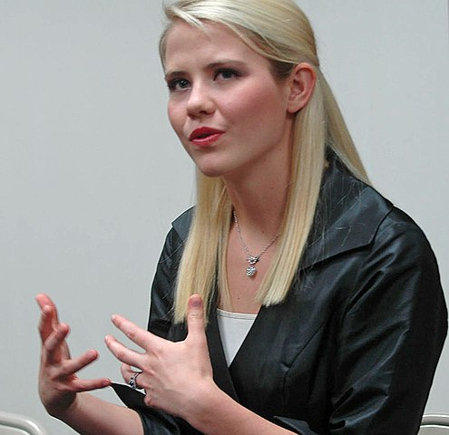 Kidnapping survivor Elizabeth Smart speaks to local media outlets before the event at Fitzsimmons-John Arena in Moberly, Mo., on Tuesday, June 19, 2012. Smart was abducted in 2002 and held captive for nine months. (Veneta Rizvic/KOMU)