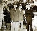 Elliott Roosevelt, Franklin Roosevelt, and a friend, Casablanca Conference, Morocco, 1943 (24656877071).jpg
