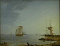 Emanuel Larsen - Ships Off the Coast of Zealand. Morning - KMS497 - Statens Museum for Kunst.jpg