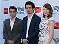 Emma Stone, Justin Hurwitz, Damien Chazelle (30116702391) (cropped 2).jpg