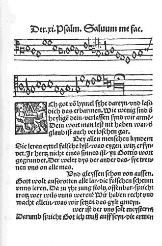 Ach Gott, vom Himmel sieh darein, BWV 2 - The hymn in the Erfurt Enchiridion of 1524