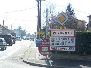 Péronnas - Entrance to the city