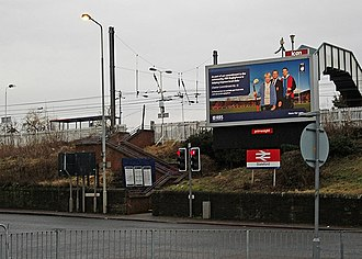 Slateford railway station - Image: Entrance to Slateford station geograph.org.uk 2296594