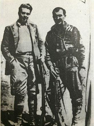 Vasil Shanto - Shanto (right) with Enver Hoxha