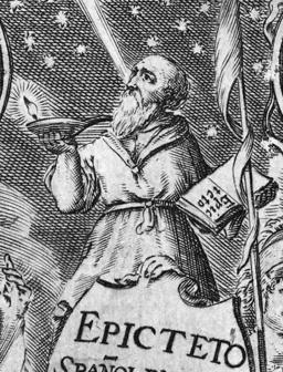 Epicteto, y Phocilides en español con consonantes, 1635, frontispiece - detail