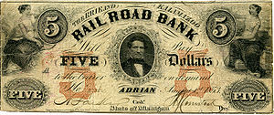 Federal Reserve Note - Privately issued note, 1853