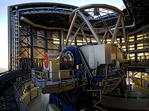 "Very Large Telescope - The interior of Antu (UT1), meaning ""sun"" in the Mapuche language."