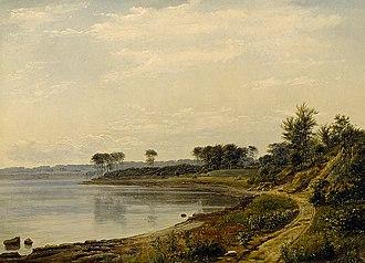 Dankvart Dreyer - The coast near Aarhus, c. 1839.