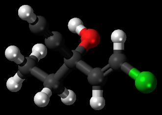 Ethchlorvynol - Image: Ethchlorvynol molecule ball