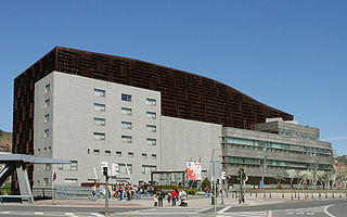 convention centre and concert hall in in Bilbao, Spain