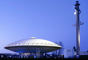 The Evoluon conference center in Eindhoven / NL. (image from Wikipedia)