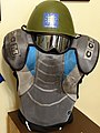 Exhibit of Paramilitary Outfit with Hockey Pads - Uzhhorod Castle - Uzhhorod - Ukraine (36583366406) (2).jpg