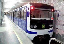 Ezh3 modernized train at Palats Sport station.jpg