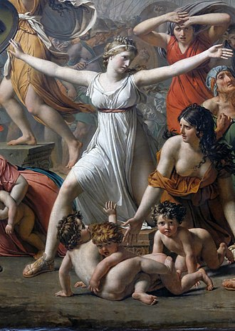 Hersilia - Hersilia from a detail of The Intervention of the Sabine Women, Jacques-Louis David (1799)