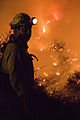 FEMA - 33314 - Firefighter on the fire line in California.jpg