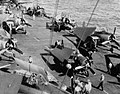 FM-2 Wildcats and TBF Avengers of VC-85 aboard USS Lunga Point (CVE-94), circa in 1945.jpg
