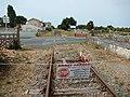 FR 17 Cozes - Ligne ferroviaire de Pons à Saujon - Approche de la gare de Cozes.jpg
