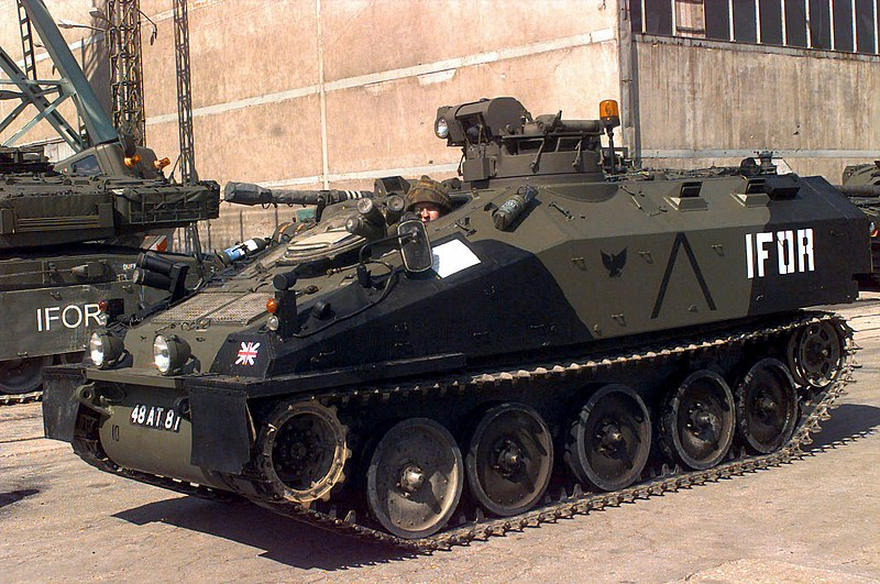 Alvis Spartan FV-103, IFOR, 22nd Engineer Regiment and 1st The Queen's Dragoon Guards convoy, Split, Croatia 1996. - credits : Hohum, wikipedia, public domain