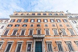 Palazzo Albertoni Spinola building in Rome, Italy