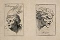 Face of a frightened soldier (left); the human face in an an Wellcome V0009385.jpg