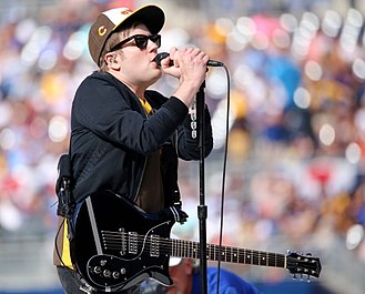 Patrick Stump - Stump performing with Fall Out Boy in 2016.