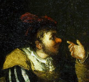 Bardolph (Shakespeare character) - Falstaff Mocking Bardolph's Nose (detail of a painting by John Cawse)