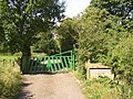 Farm gate and sign, Bullace Trees Lane, Roberttown, Liversedge - geograph.org.uk - 542574.jpg