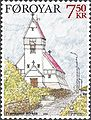 Faroe stamp 504 church of tvoroyri.jpg