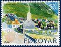 Faroe stamp 507 vagar - bour.jpg