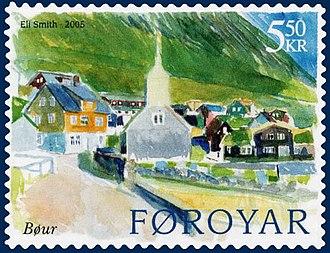 Bøur - Image: Faroe stamp 507 vagar bour