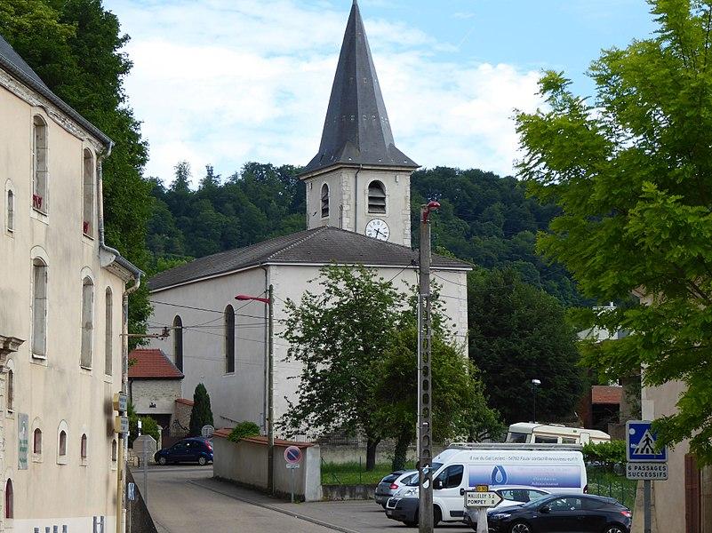 Église de Faulx en Meurthe-et-Moselle (France).