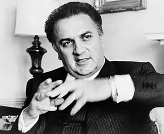 Federico Fellini Italian filmmaker