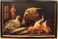 Felice boselli (attr.), cucina con uccelli vivi e morti, carni macellate, salsicce e cardi, 1670-730 ca. (emilia).JPG
