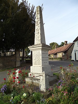 Fen Ditton - The village war memorial, a grade II listed building
