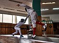 Fencing in Greece. Greek Epee Fencers. Epee at Athenaikos Fencing Club.jpg
