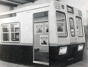 Fiat-Materfer (Buenos Aires Underground) - The first prototype presented in 1978. The split windows were changed for a single window in the production version.