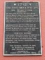 First Brick Building plaque - Worcester, MA - DSC05740.jpg