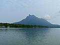 Fish Farms along Santubong River with Santubong Peninsula in the background (15225279113).jpg