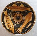 Fish plate, Greece, Apulian red figure, c. 350-325 BC, terracotta - Spurlock Museum, UIUC - DSC05801.jpg