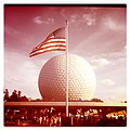 Flag over EPCOT - panoramio.jpg