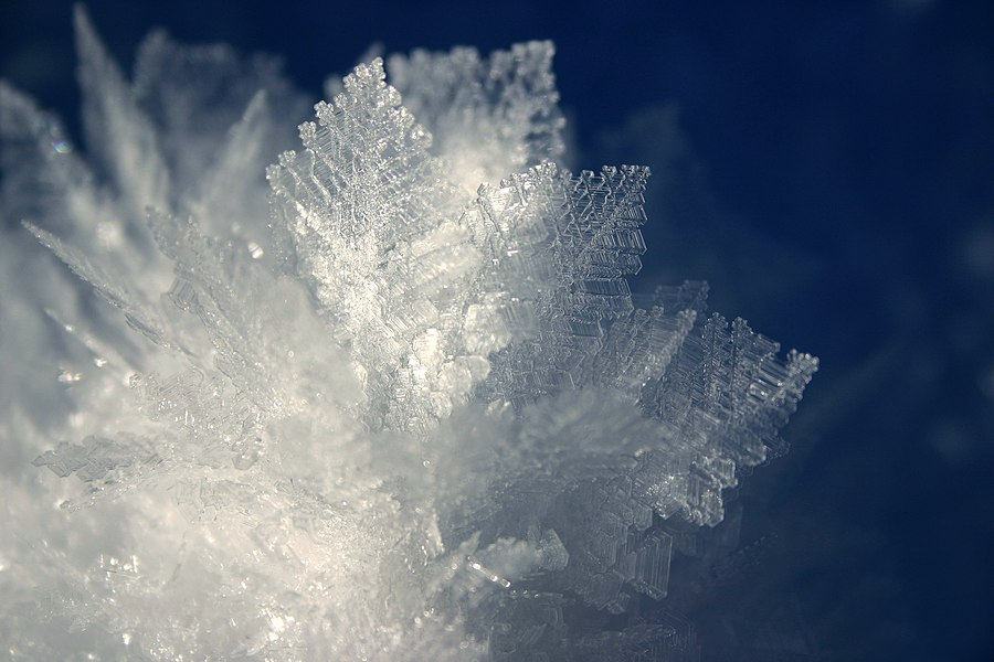Frost, Ice crystals, Lajoux, Jura, France